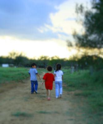 Childrenwalking